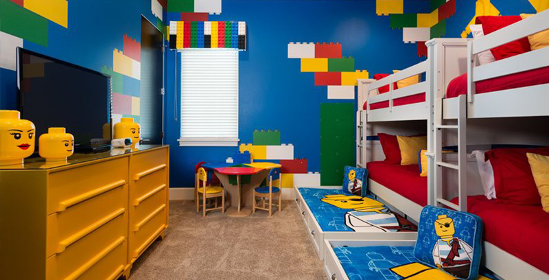 Lego Blocks Kids Room Paint Idea